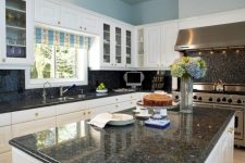 painted-white-kitchen-cabinets-oak-cabinet-in-country-style-design-combined-white-rectangle-top-dining-table-cool-apron-sink-design-ideas-neutral-paint-color-for-776x582