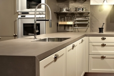 Waterfall Countertop New kitchen neolith barro waterfall countertop undermount sink